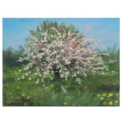"""Garncarek Aleksander Oil Painting """"Kwitnąca,"""" 2021"""
