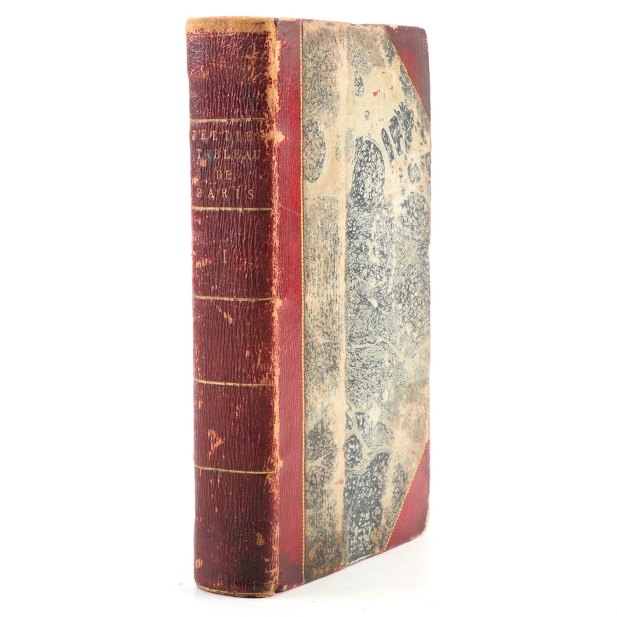 """French Language """"Dernier Tableau de Paris"""" by Jean-Gabriel Peltier, 1792"""