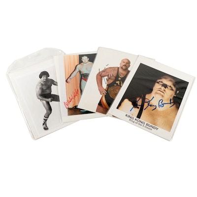 King Kong Bundy, Vladimir Koloff and Other Professional Wrestling Signed Prints