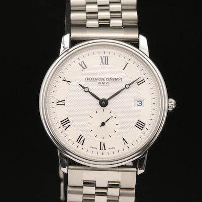 Frederique Constant Slimline Stainless Steel Quartz Wristwatch
