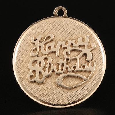 """14K """"Happy Birthday"""" Pendant"""