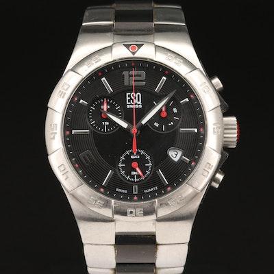ESQ Swiss Chronograph Stainless Steel Quartz Wristwatch