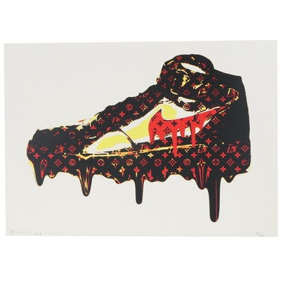 Death NYC Pop Art Giclée of Nike Shoe with Louis Vuitton Logo