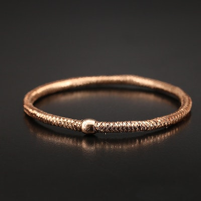 """Roberto Coin 18K """"Primavera"""" Mesh Bracelet with Ruby Accent"""