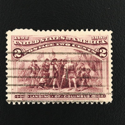 "1892 Columbian Exposition ""Broken Frame Variety"" 2-Cent Stamp, Scott #231"