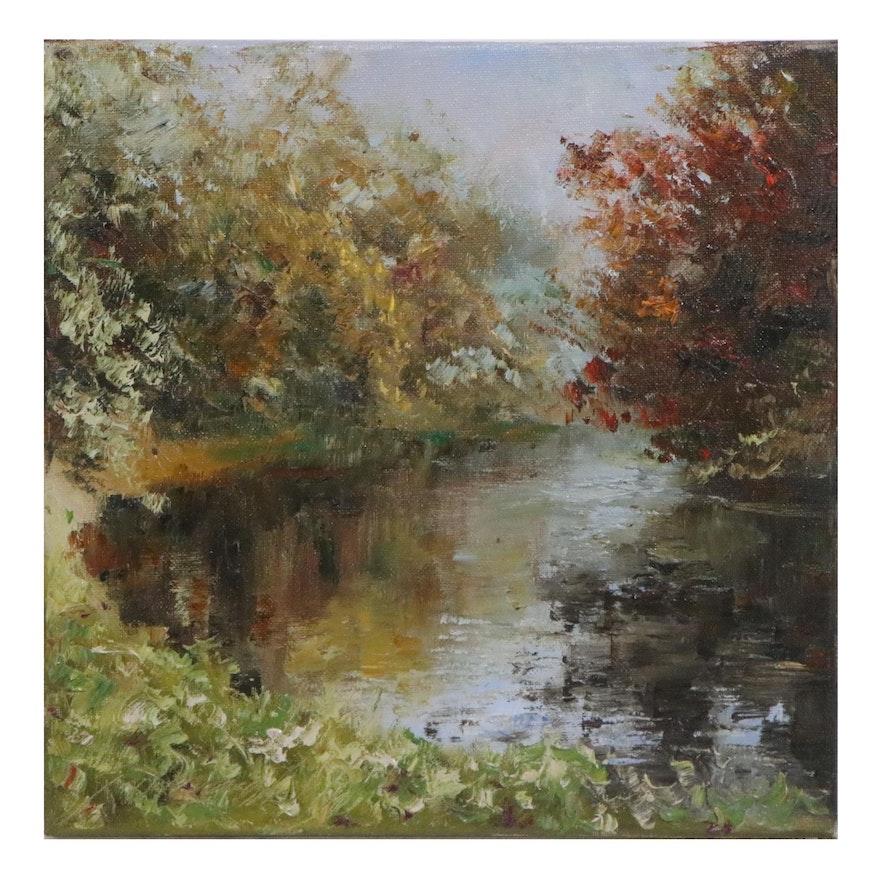 """Garncarek Aleksander Oil Painting """"Fesiennie"""""""