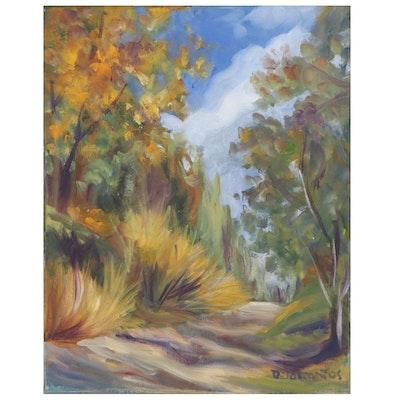 Kristina Delossantos Landscape Oil Painting, 21st Century
