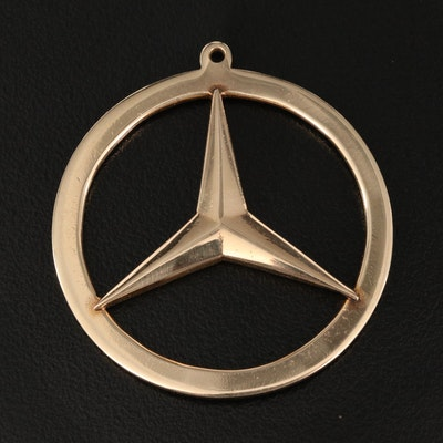 14K Mercedes Logo Pendant