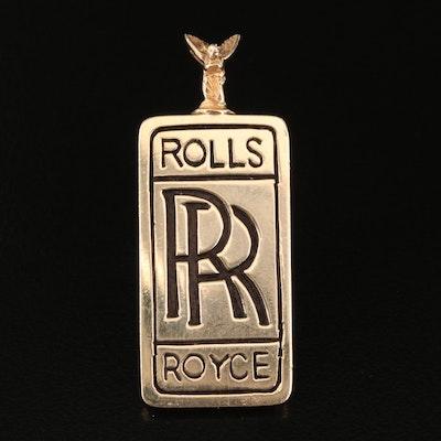 14K Rolls Royce Pendant