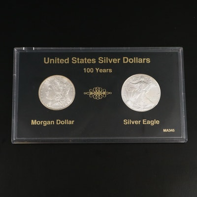 1898-O Morgan Silver Dollar and 1998 Fine Silver Eagle