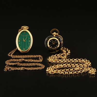 Joan Rivers Classics Gold Tone Pendant Watches