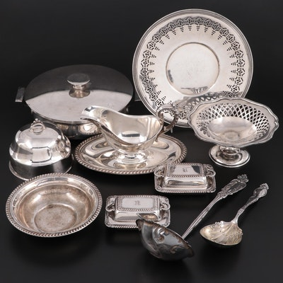 Wendell Mfg. Co. Sterling Silver Casserole Spoon with Silver Plate Tableware