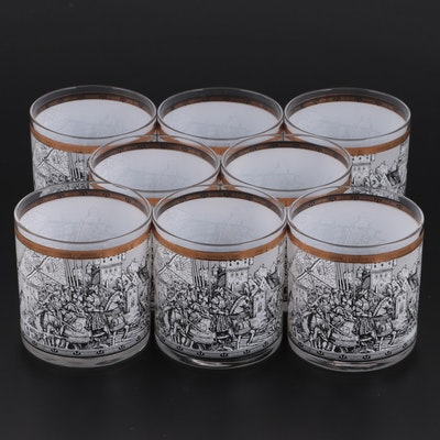 """Cera """"Camelot"""" Tumblers, Mid-20th Century"""
