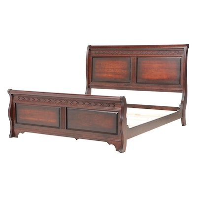 """Yutzy Woodworking """"New Generations"""" Cherrywood King Size Bed Frame"""