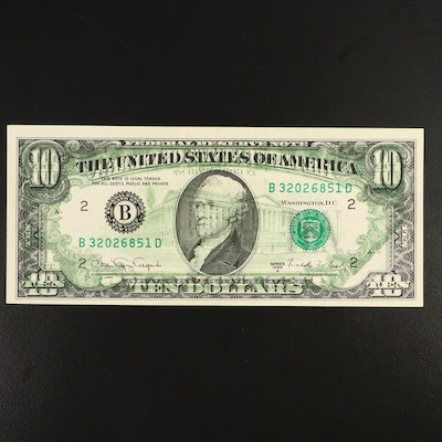 Offset Printing Error Series 1988A $10 Federal Reserve Note