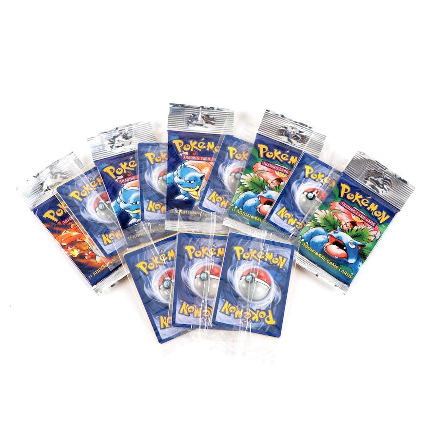 1999 Pokémon Sealed Factory Packs and Bonus Warner Bros. Promo Movie Cards