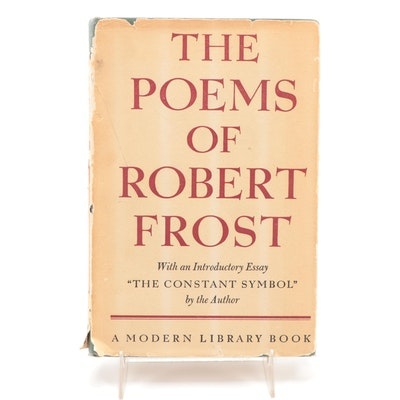 """Signed """"The Poems of Robert Frost"""" with Visual COA, 1946"""