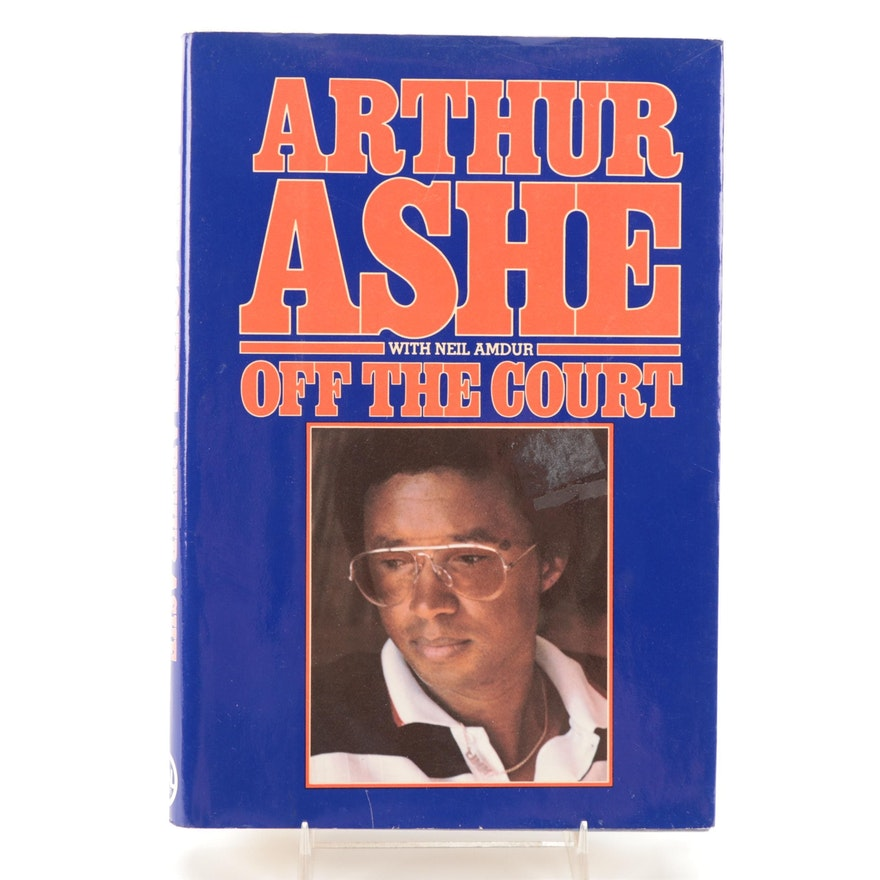 """Signed First Printing """"Off the Court"""" by Arthur Ashe, 1981"""