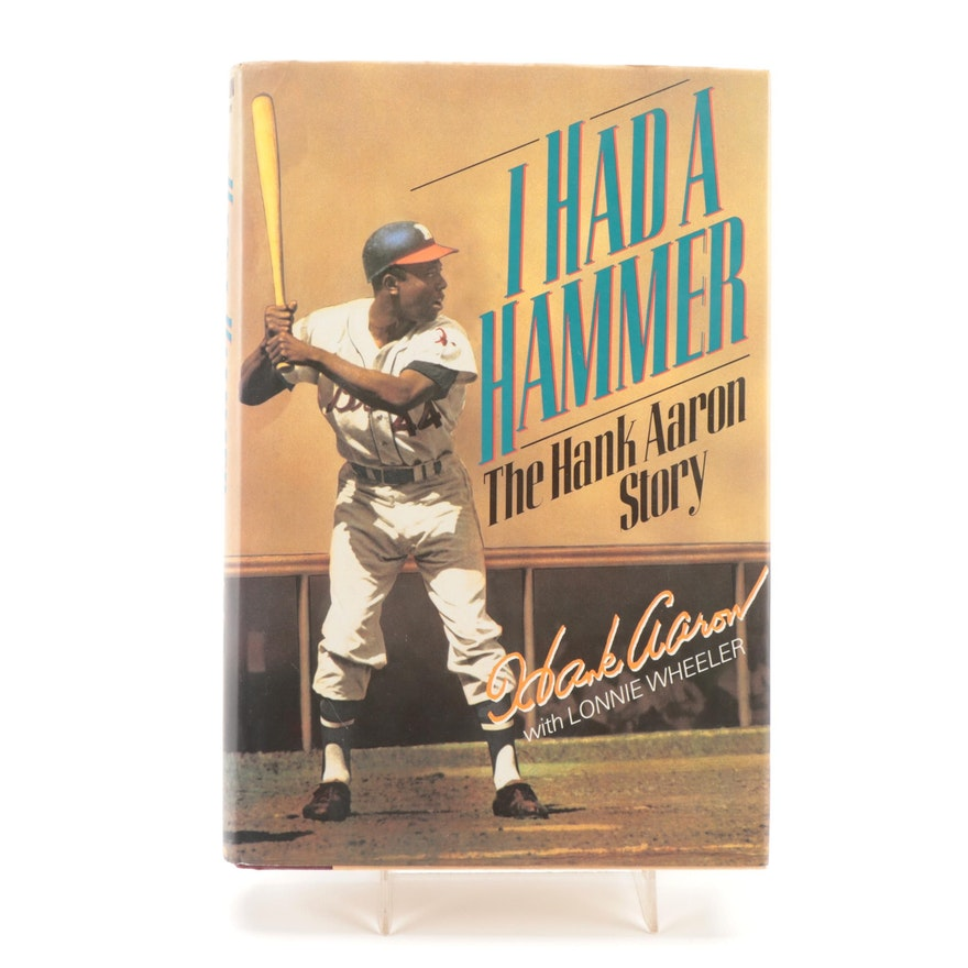 """Signed First Edition """"I Had a Hammer"""" by Hank Aaron with Visual COA, 1991"""