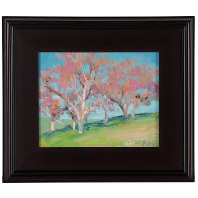 """Peter Chorao Oil Painting """"Trees,"""" 2021"""