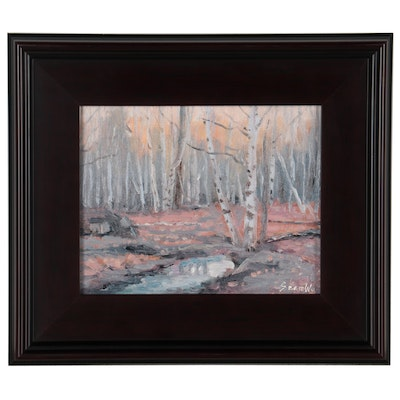 Sean Wu Forest Landscape Oil Painting, 2021