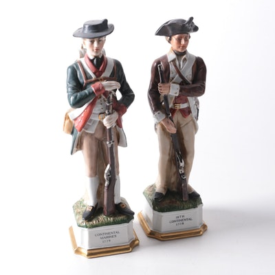 Arnart Creations Revolutionary War Soldiers Porcelain Figurines, Mid-20th C.