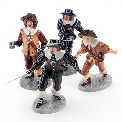 """Royal Doulton """"Porthos"""", """"Aramis"""" and Other Figurines Designed by Adrian Hughes"""