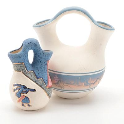 New West Pottery and Koshaei Studios Ceramic Decorated Water Jugs
