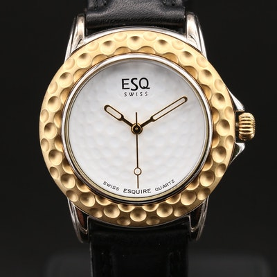 Swiss ESQ Golf Ball Quartz Wristwatch