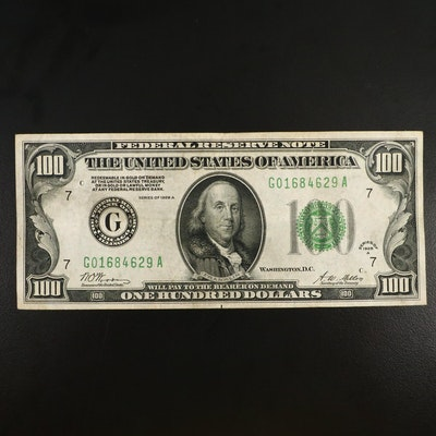Series of 1928A $100 Federal Reserve Note