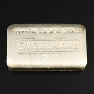 Engelhard 10-Troy Oz. Fine Silver Ingot