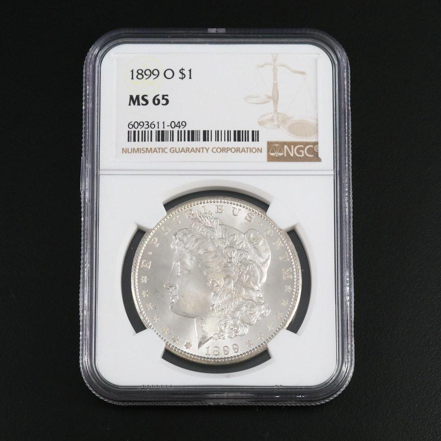 NGC Graded MS65 1899-O Morgan Silver Dollar