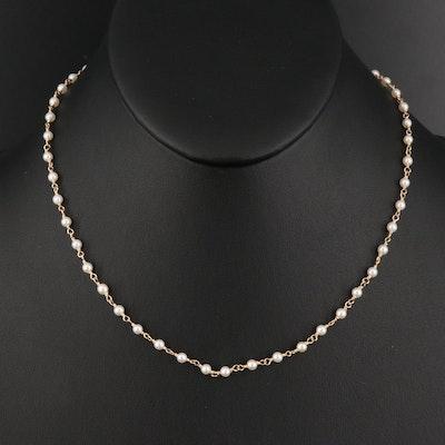 Cynthia Bach 14K Pearl Necklace