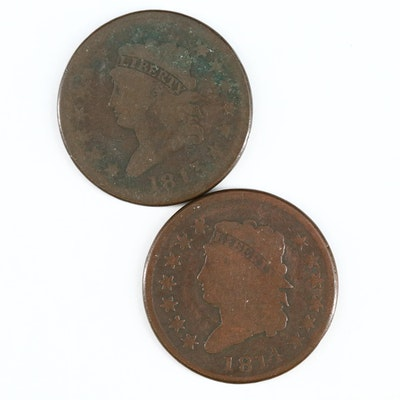 Classic Head Large Cents, 1813 and 1814