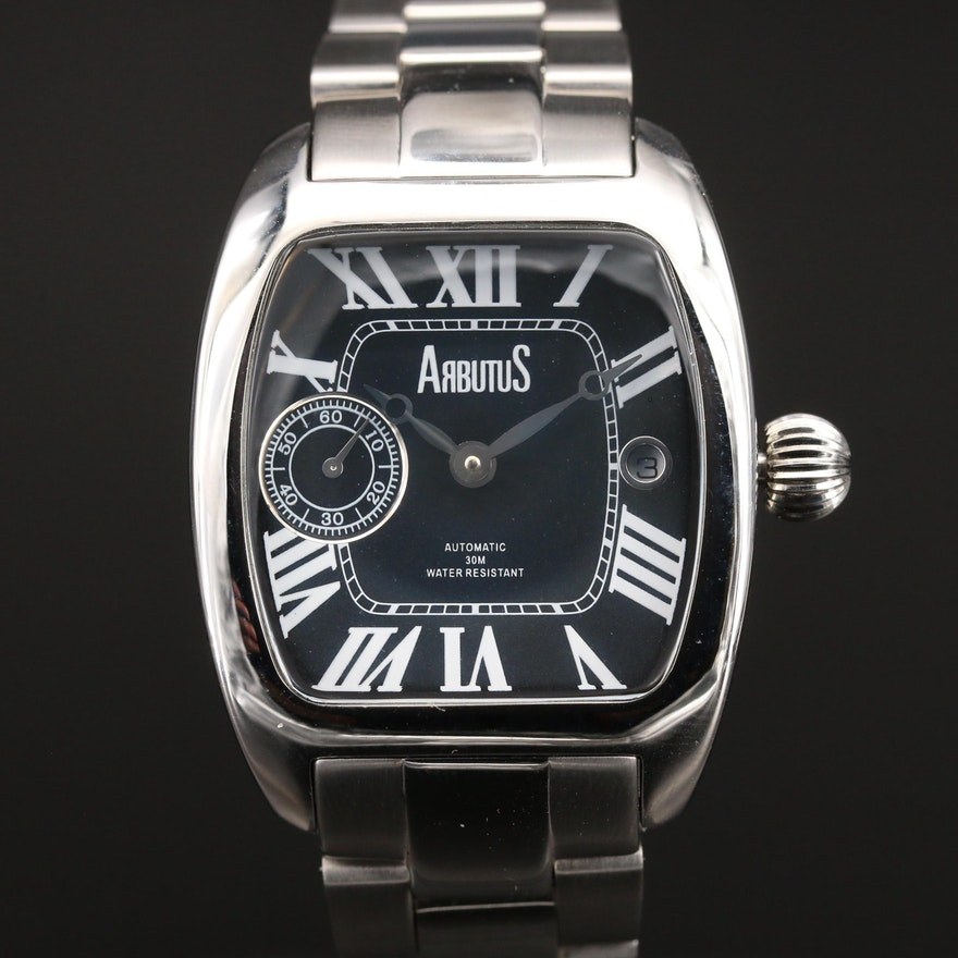 Arbutus Automatic with Date Stainless Steel Wristwatch