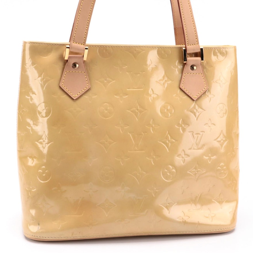Louis Vuitton Houston Bag in Monogram Vernis with Vachetta Leather