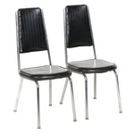 Pair of Mid Century Modern Chrome Dinette Side Chairs