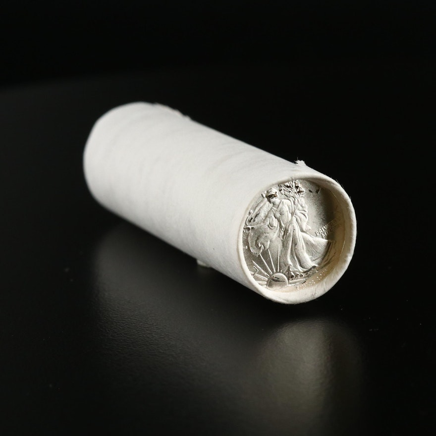 Roll of Walking Liberty 1/10 ounce .999 Silver Rounds from Money Metal Exchange