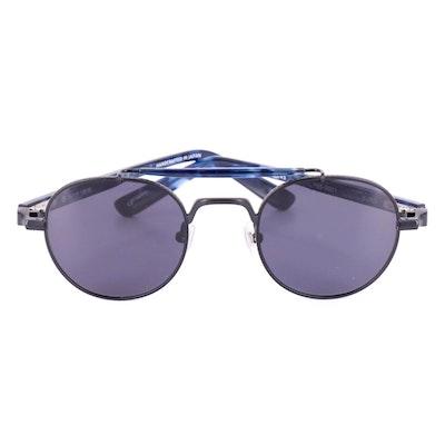 TOKYO 35/139 Kuro Blue Tortoise Style Aviator Sunglasses