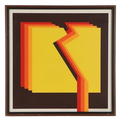 "Frank Rowland Serigraph ""Fanfare,"" Late 20th Century"