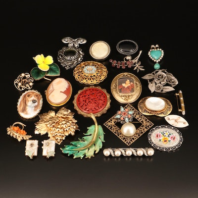 Vintage Costume Jewelry Featuring Mamselle, Napier and Sterling Heart Brooch