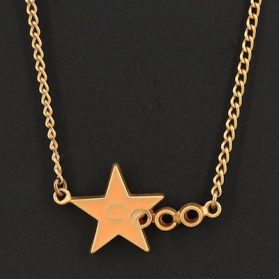 Spring 2001 Chanel Coco Star Necklace with Enamel