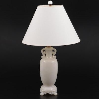Aladdin Alacite Glass Amphora Form Table Lamp, Mid-20th Century