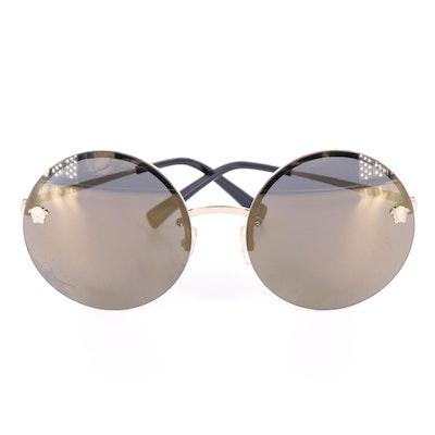 Versace Mirrored Round Lens Sunglasses