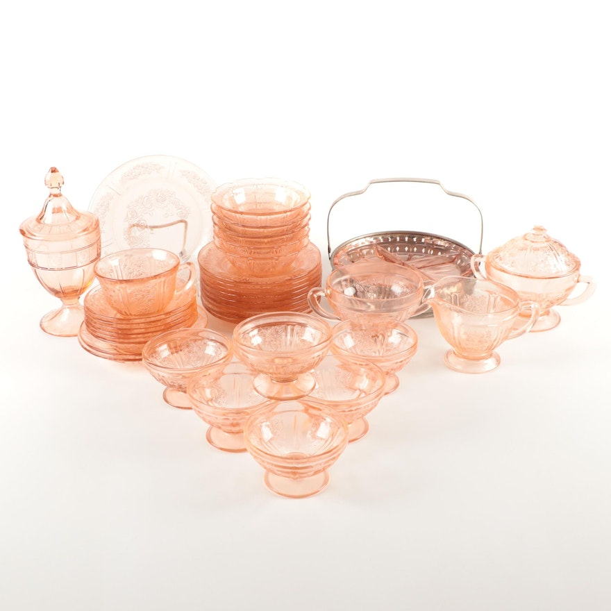 """Federal """"Sharon"""" and Other Pink Depression Glass Tableware"""