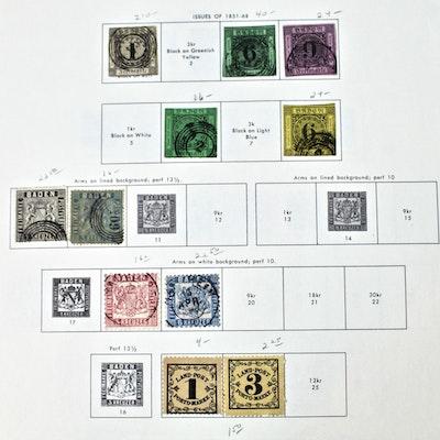 Vintage German States Postage Stamp Collection