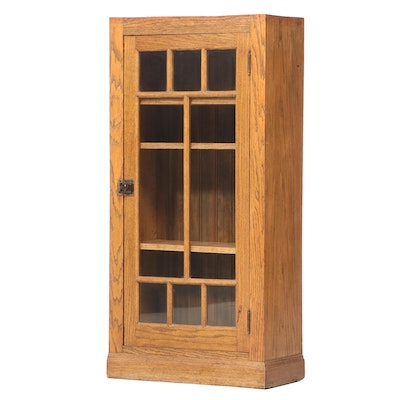 Salvaged Late Victorian Oak Built-In Cabinet, Early 20th Century