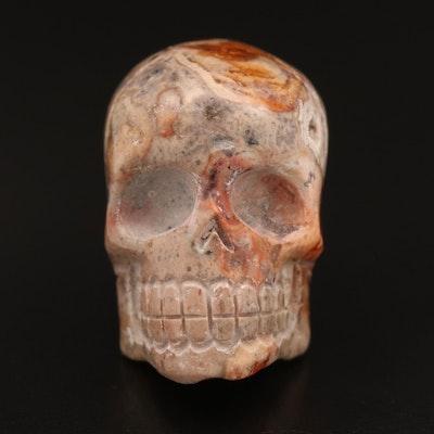 Boulder Opal Skull Head