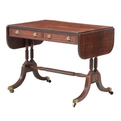 Regency Style Mahogany Sofa Table, Late 19th/Early 20th Century