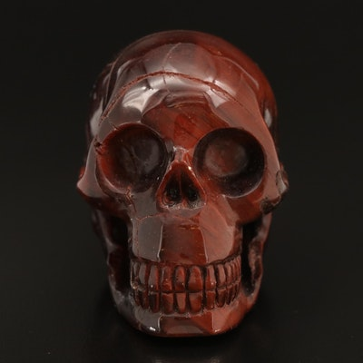 Carved Tiger's Eye Skull